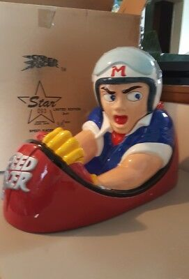 Star Jars 1998 SPEED RACER MACH V Cookie Jar - RARE In Box Limited Ed 805/1000