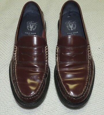492a31e3b0d Cole Haan Pinch Maine Classic Loafers Burgundy Leather Men s Size 8 1 2 M  Euc