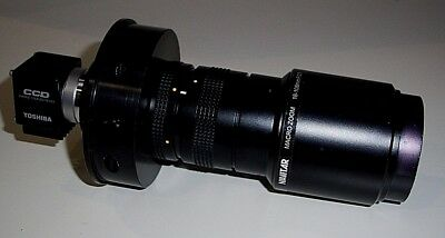 Navitar Machine Vision ZOOM 7000  18-108mm F/2.5 w/ Toshiba CCD Camera IK-C43H54