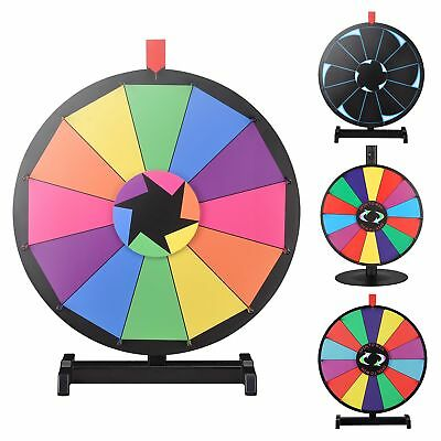 """WinSpin® 18"""" Tabletop Colored Prize Wheel Fortune Fun Game Party Mall Pub Stalls"""
