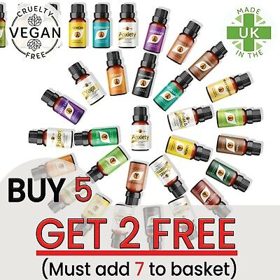 Essential Oils Pure Aromatherapy Natural Organic Essential Oil Fragrances 10ml