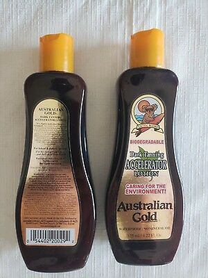 4816dc7575 Pair of Australian Gold Dark Tanning Lotion Accelerator Bronzer   New