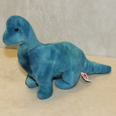 Bronty ( Dinosaur ) - NO HANG TAG - 1st or 2nd gen tush Ty Beanie Baby (SP)