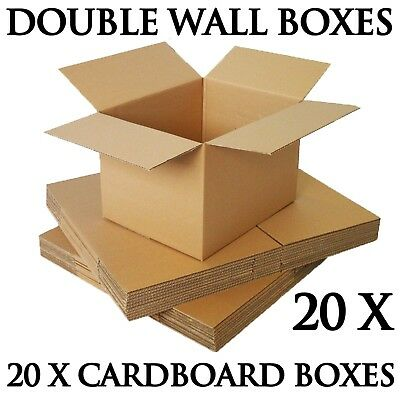 20X Large 18X12X12 Inch Cardboard Boxes Strong Double Wall Removal Moving Boxes