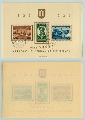 Lithuania 1940 SC 316a used Souvenir Sheet . rta1335