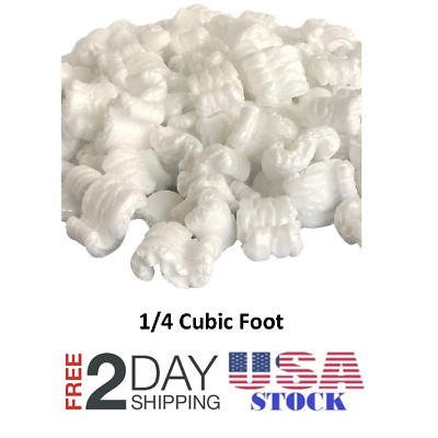 Packing Peanuts Shipping Anti Static Loose Fill  1/4 Cubic Foot White
