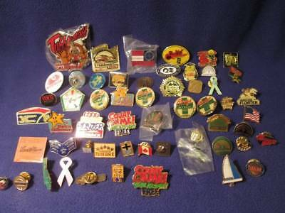 Lot of 50+ US Pinbacks and Buttons