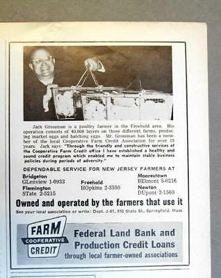 Original 1961 Loan Ad Photo Endorsed Jack Grossman, Freehold Area of New Jersey