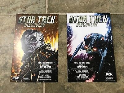 "New York Comic Con 2017 - NYCC 2017 Star Trek ""Discovery"" Large Postcard Lot (ID"