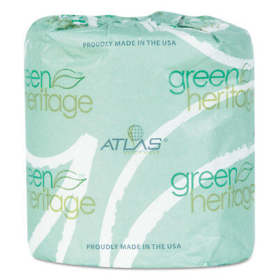 Atlas Paper Mills Toilet Tissue 3x4 Sheets 2ply 400/roll 96/ct 248GREEN NEW