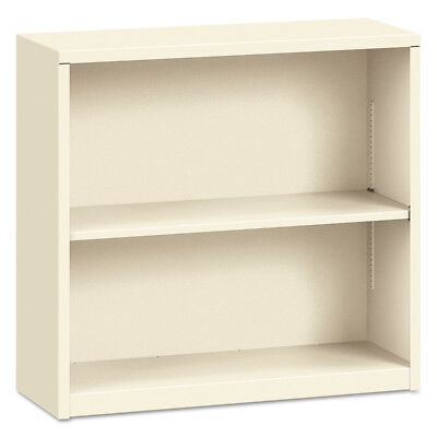 HON Metal Bookcase, Two-Shelf, 34-1/2w X 12-5/8d X 29h, Putty S30ABCL NEW