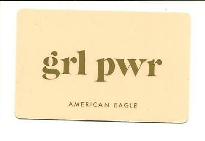 American Eagle Grl Pwr Gift Card No $ Value Collectible