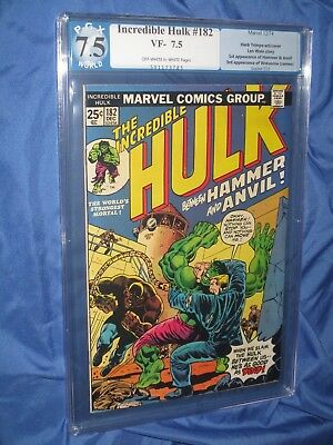 THE INCREDIBLE HULK  #182 PGX 7.5 (1st Appearance of WOLVERINE/CGC/181)