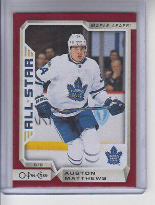 18/19 OPC Toronto Maple Leafs Auston Matthews AS Red Wrapper Redemption #105