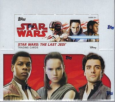 2017 Topps Star Wars The Last Jedi Movie Ed. Trading Cards 24pk Display Box FS