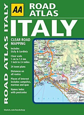 AA Road Atlas Italy (AA Atlases and Maps) by AA Publishing Spiral bound Book The