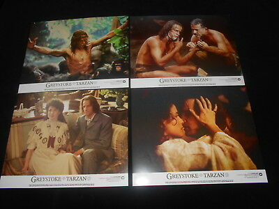 Greystoke The Legend Of Tarzan  8 Original Lobby Cards