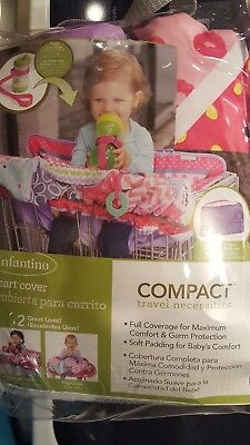 Infantino Compact Grocery Cart Cover Pink