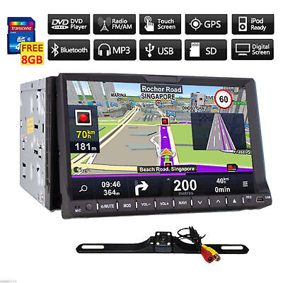 """7"""" HD Touch Screen 2 DIN Car Stereo DVD Player Bluetooth Radio GPS+Backup Camera"""
