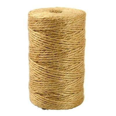 100m Natural Jute Rope Twine String Cord DIY Scrapbooking Craft Making Tool