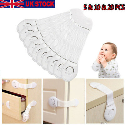 10&20PC Baby Kid Child Safety Lock Proof Cabinet Drawer Fridge Pet Cupboard Door