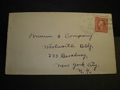 1917 USS FLORIDA BB-30 Naval Cover WWI BATTLESHIP to Broadway, NY