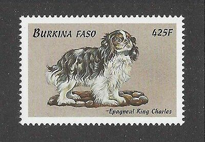 Dog Art Body Study Portrait Postage Stamp ENGLISH TOY SPANIEL Burkina Faso MNH