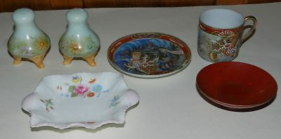 GROUP OF VINTAGE CERAMICS & LACQUER - Inc Samurai China & Shelley