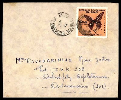 Madagascar Mar 6 1984 Cancel On Cover With Butterfly Issue To Antananarivo