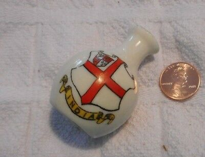 Antique Arcadian Ware Crested Ware Miniature Vase - India War A.D. 1914 Edition