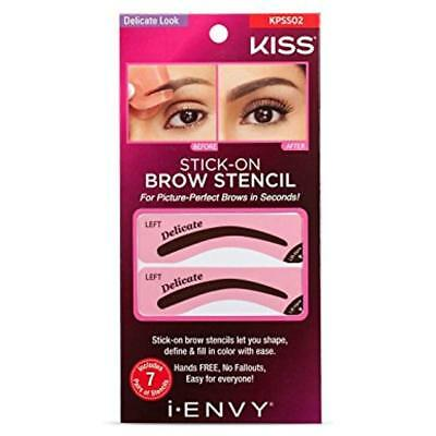 I Envy By Kiss Brow Stamp For Perfect Eyebrow Kpbs01 Ebony Delicate Shape GIFT