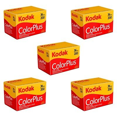 5 Pack Kodak ColorPlus 200 ASA 35mm Colour Print Film 135-36 Exposure