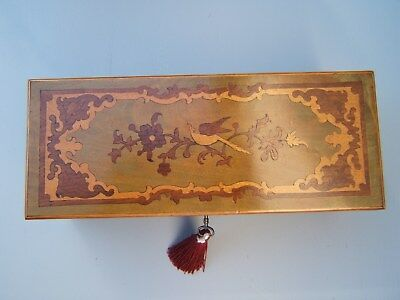 Superb 19C Sorrento/french Inlaid Antique Jewellery Box - Fab Interior