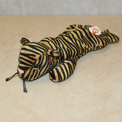 Authentic Ty Stripes Beanie Baby No Hang Tag 2nd Tush