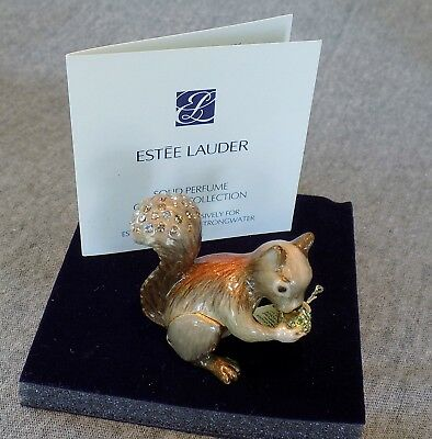 Jay Strongwater Estee Lauder Playful Squirrel - solid perfume