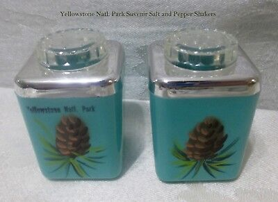 Vintage Pine Cone Salt and Pepper Shakers - Yellowstone Natl. Park