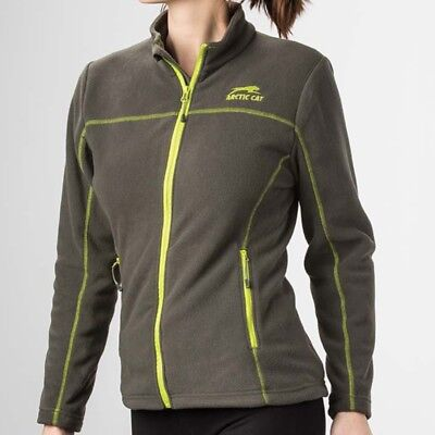Arctic Cat Women's Aircat Heavyweight Full-Zip Fleece Sweatshirt - Gray 5283-20_