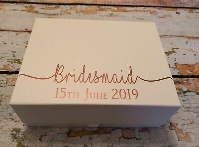Personalised Gift Box Bridesmaid Gift Boxes Keepsake Box Maid Of Honour Gift