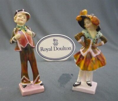 PEARLY GIRL & BOY Royal Doulton England Bone China Doll Figurines HN 2035 & 2036