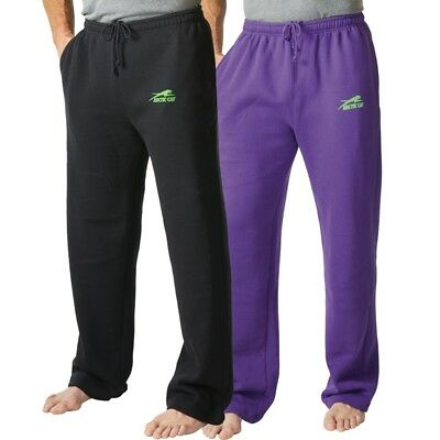 Arctic Cat Men's Classic Aircat Relaxed Fit Sweatpants Lounge Pants Black Purple