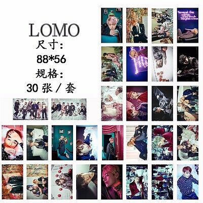 30pcs KPOP BTS Bangtan Boys Photo Poster Lomo Album 【WINGS 】Cards
