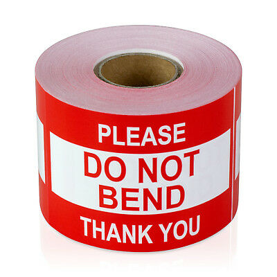 """Please DO NOT BEND Thank You Stickers Caution Care Labels (2"""" x 3"""" / 10 Rolls)"""