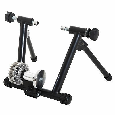 Indoor Bike Trainer Magnetic Bicycle Exercise Stand w/ Front Wheel Riser