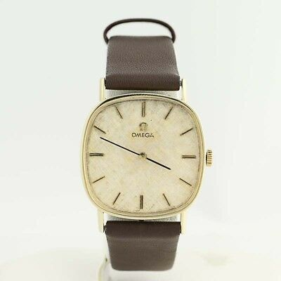 Omega Ladies Watch - 14k Yellow Gold Genuine Leather 620 Caliber Movement