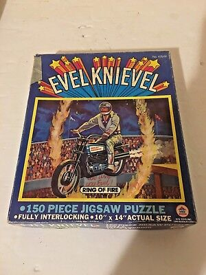 Original Ring Of Fire 1974 Evel Knievel 141 Piece Jigsaw Puzzle