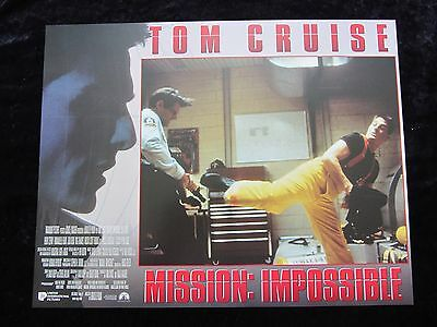 MISSION IMPOSSIBLE lobby card # 5 - TOM CRUISE, BRIAN DE PALMA