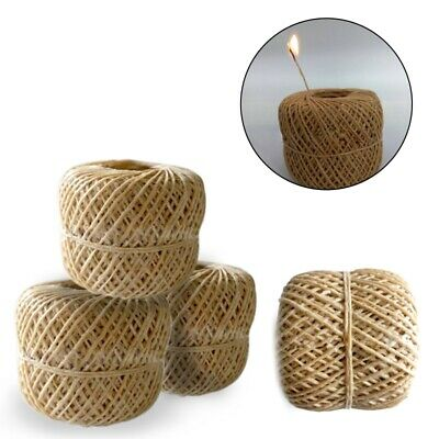Rope Hemp Wick 200ft Natural Unbleached Hemp and Beeswax Roll DIY Craft