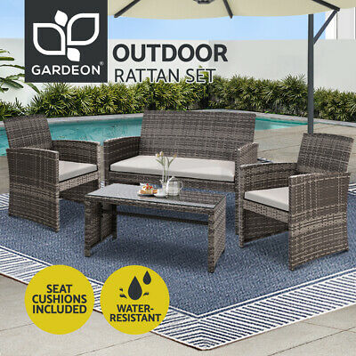9 13 17pc Aluminium Outdoor Wicker Furniture Dining Set Poly