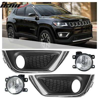 Jeep CHRYSLER OEM 17-18 Compass Front Bumper Grille-Lamp Bezel Right 5UP96RXFAB