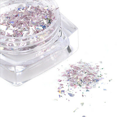 Chameleon Holographic Nail Art DIY Sequins Mirror Powder Glitter Flakes 1 Box